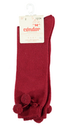 Condor warm Pom Knee Socks Burgundy - Eat Play Love