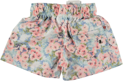 Swim shorts pink flower - Eat Play Love