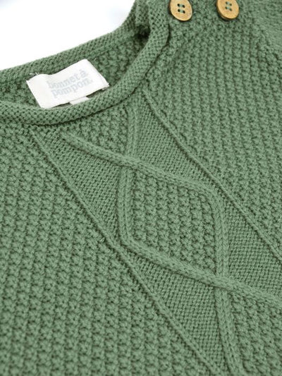 Bonnet a Pompon Green Jumper - Eat Play Love