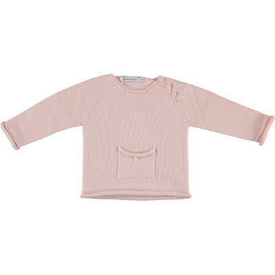 Paloma de la O Romper with round pink stripe collar - Eat Play Love