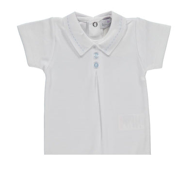 T-Shirt Light Blue Buttons - Eat Play Love