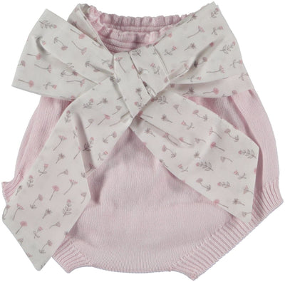 Wedoble Baby Bloomers Pink with bow - Eat Play Love