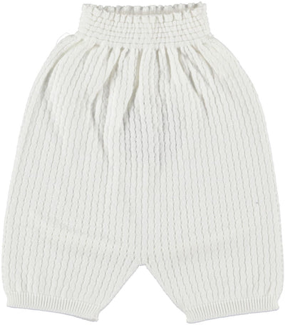 Wedoble Baby Knit Polo White - Eat Play Love