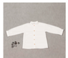 Boys -White  Mao Collar Shirt - Eat Play Love