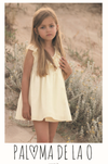 Paloma de la O Yellow White stripes Girl Dress 12m to 3yo - Eat Play Love