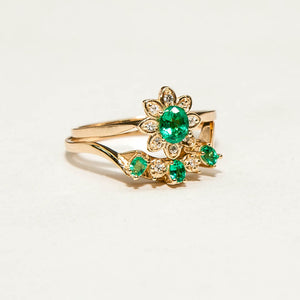 Cicely Cliff Diamond Emerald Bespoke Custom Jewellery
