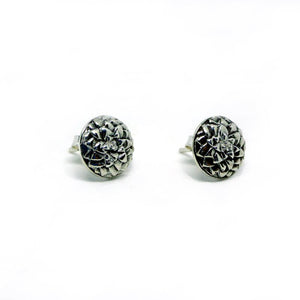 Australian Spike Plant Earrings Silver