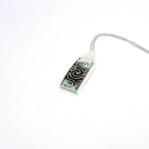Luxury Sustainable Silver Coral Maze Necklace