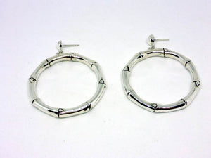 Luxury Sustainable Silver Bamboo Earrings