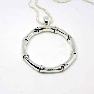 Ethical Sterling silver Bamboo Hoop Earrings