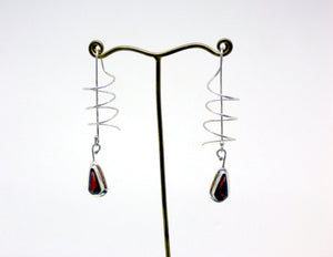 Garnet Clockwork Earrings