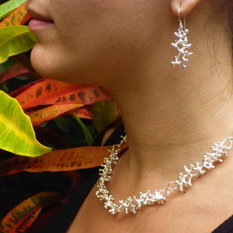 Exclusive Luxury Sustainable Silver Gecko Tiptoes Earrings