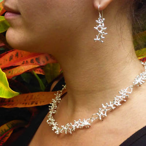 Exclusive Luxury Sustainable Silver Gecko Tiptoes Necklace