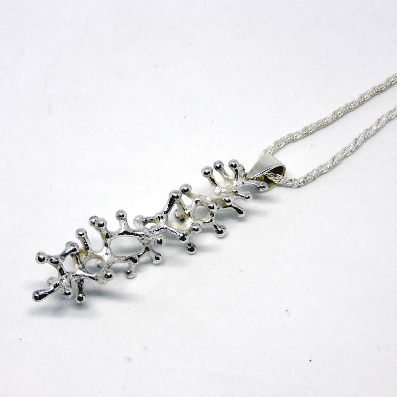 Exclusive Luxury Sustainable Silver Gecko Tiptoes Pendant