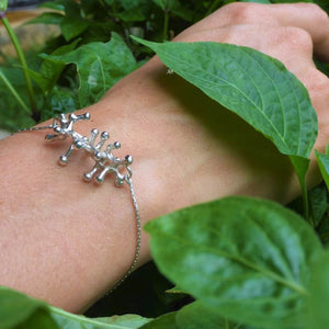 Exclusive Luxury Sustainable Silver Gecko Tiptoes Chain Bracelet