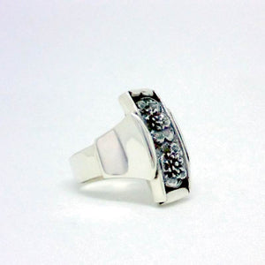 Luxury Sustainable Silver Lotus Meditation Ring