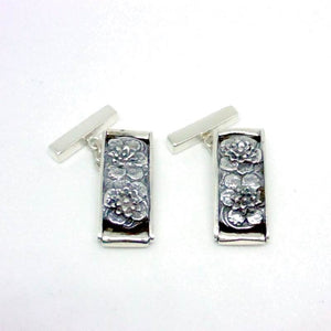 Luxury Sustainable Silver Lotus Meditation Cufflinks