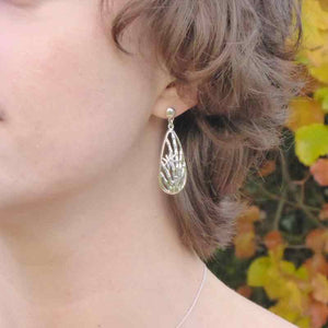 Ethical sterling silver bamboo grove earrings