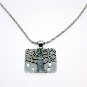 Silver Autumn Tree Of Life Pendant Necklace