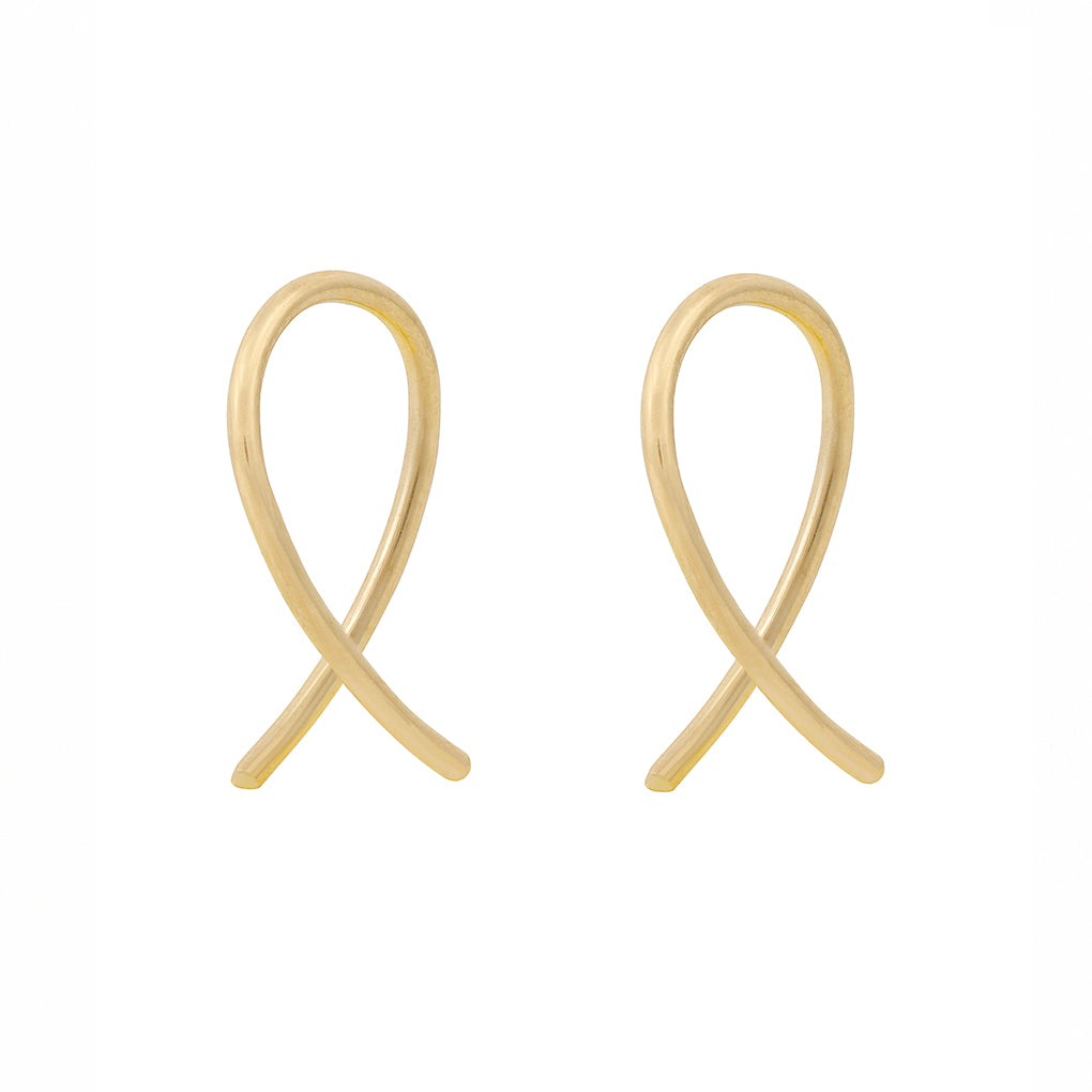 Gara Danielle 14k Gold Twisted Wire Earrings