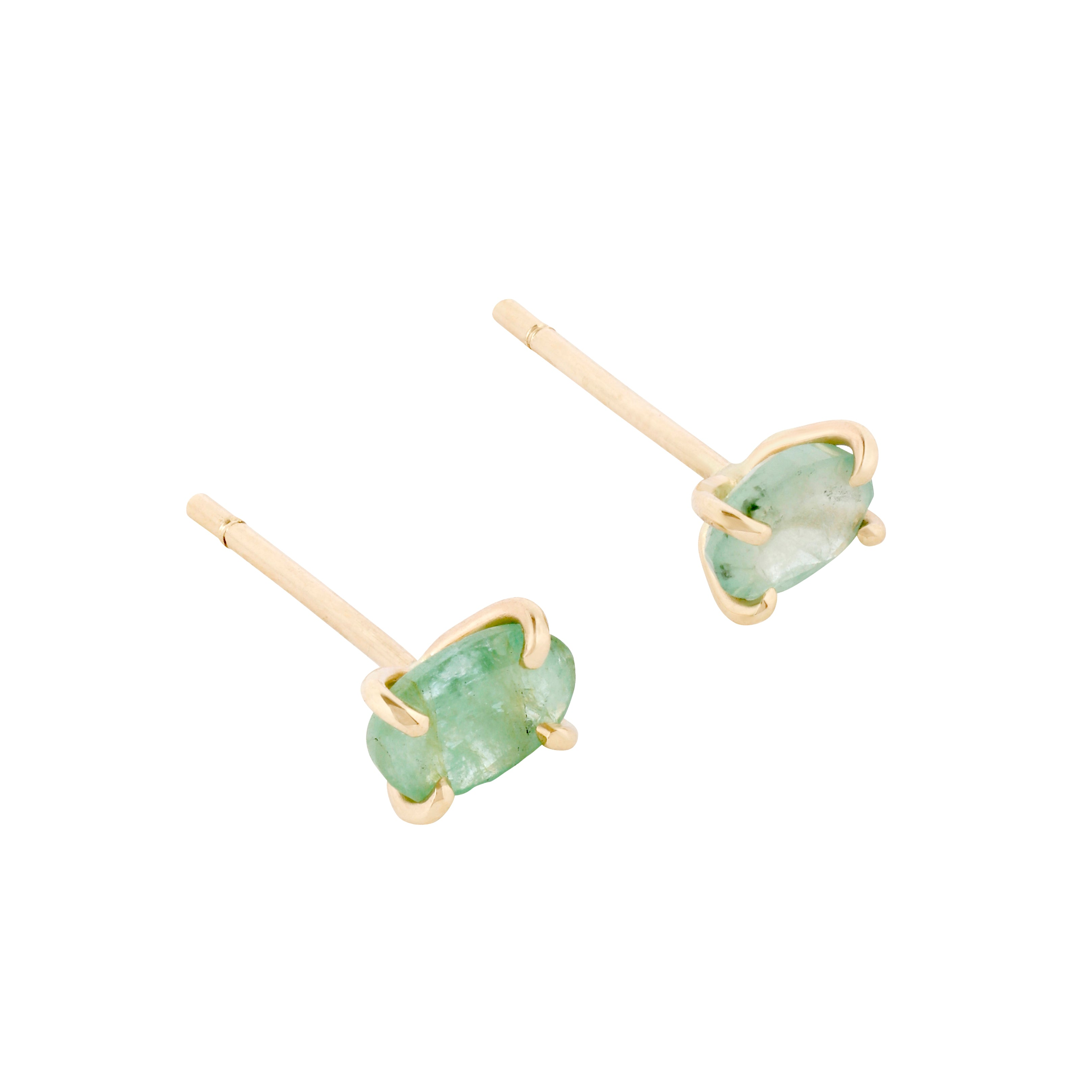 Gara Danielle 14k Gold Green Sapphire Earrings