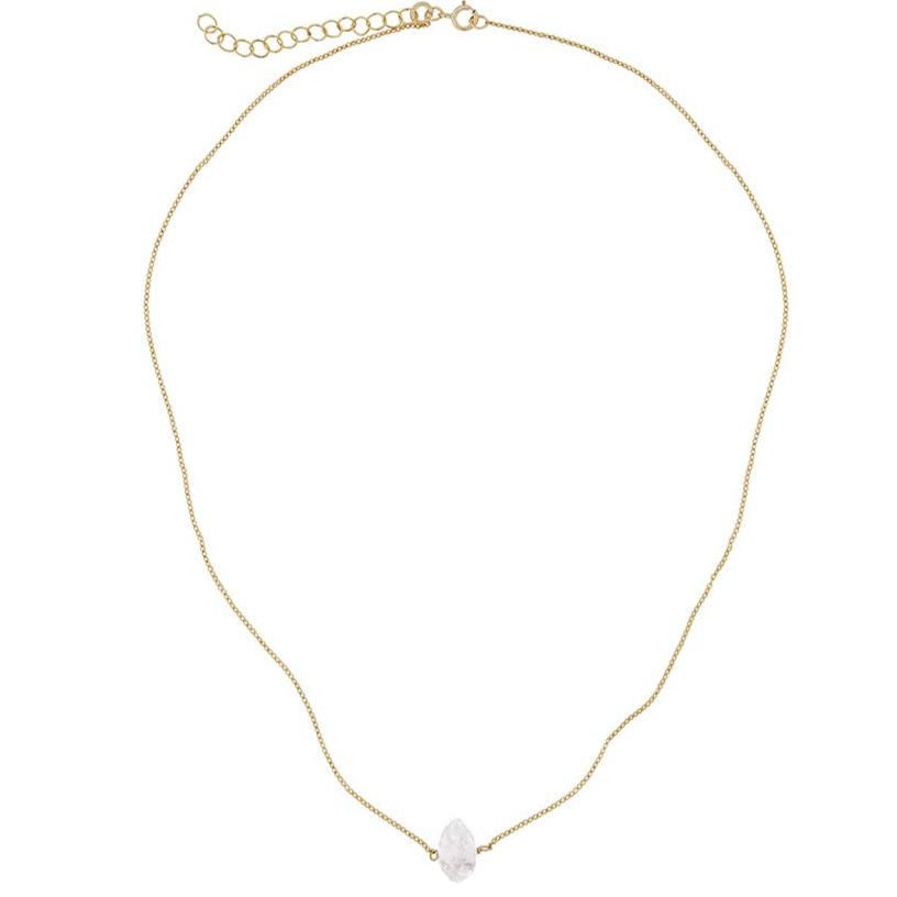 Gara Danielle Herkimer Diamond 14k gold-filled necklace