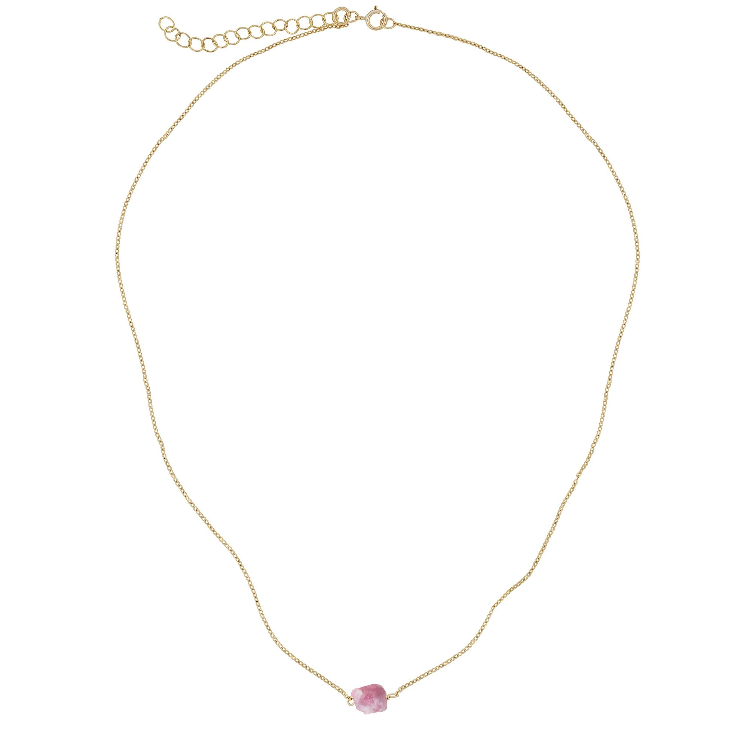 Gara Danielle Pink Tourmaline 14K Gold-Filled Necklace