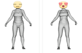 3d body scan of an 8 week body transformation