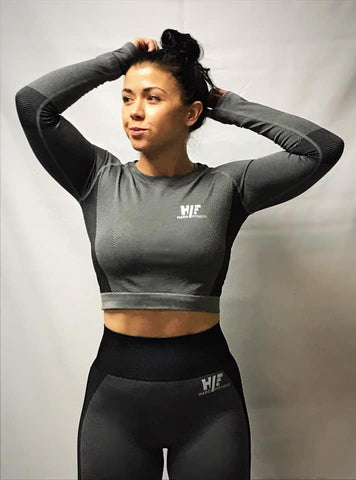 Hard Fitness Long Sleeve Cropped gym top