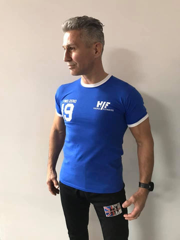 Hard Fitness Blue retro T Shirt