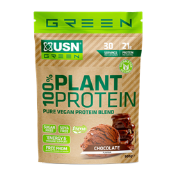 Chocolate flavour 100% plant protein, vegan friendly.