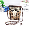 Coconut Shell Beading Crossbody Bag