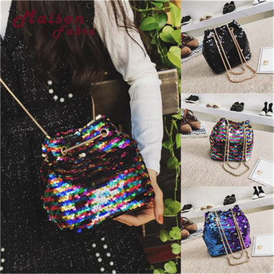 Girl Bling Sequin Bucket Bag