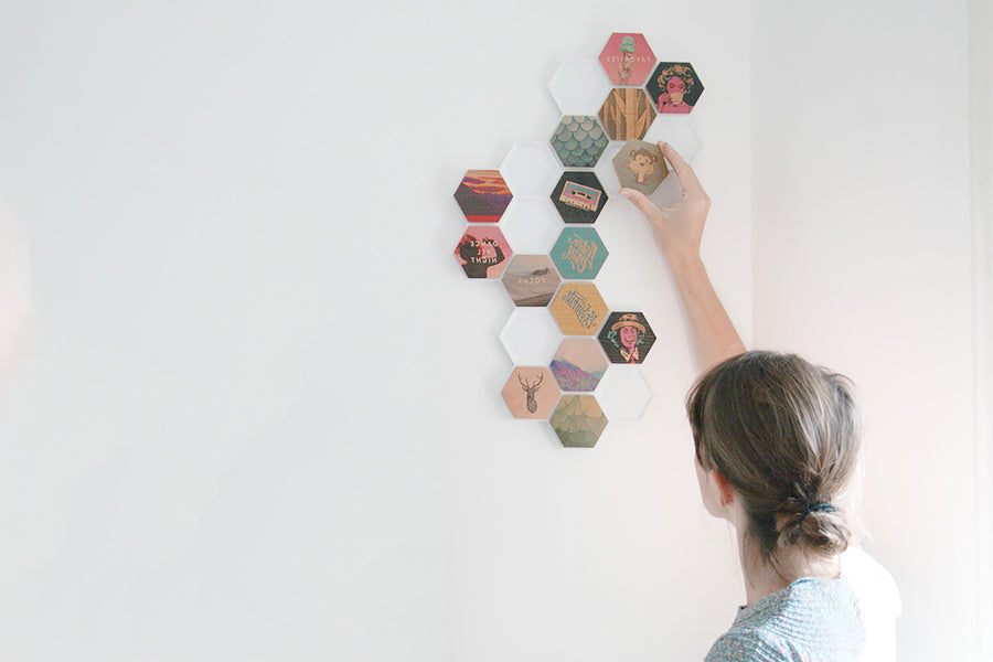 Qleek hive / Honeycomb / hexagonal / storage