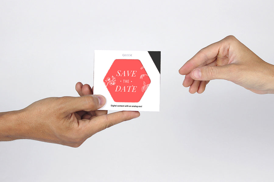 Try Our Save The Date Wedding Favor Qleek Sample, FREE!