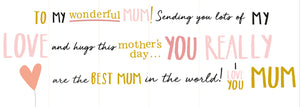 TO MY LOVELY MOM (foldout)