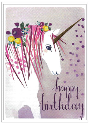 HAPPY BIRTHDAY (UNICORN) blank inside