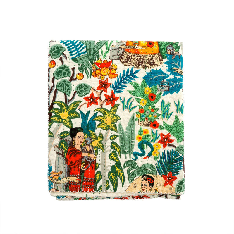 FRIDA DREAMS QUILTED THROW