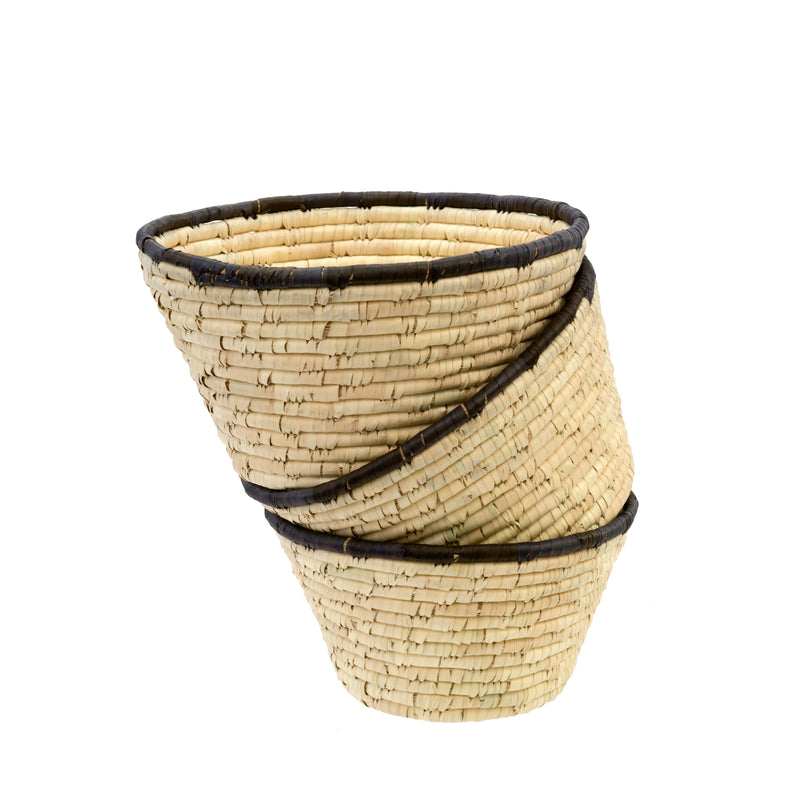 DATE LEAF BASKET BOWL (set of 3)