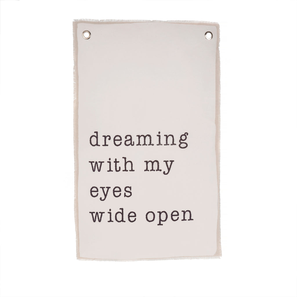 "WALL HANGING, ""DREAMING WITH MY EYES WIDE OPEN"""