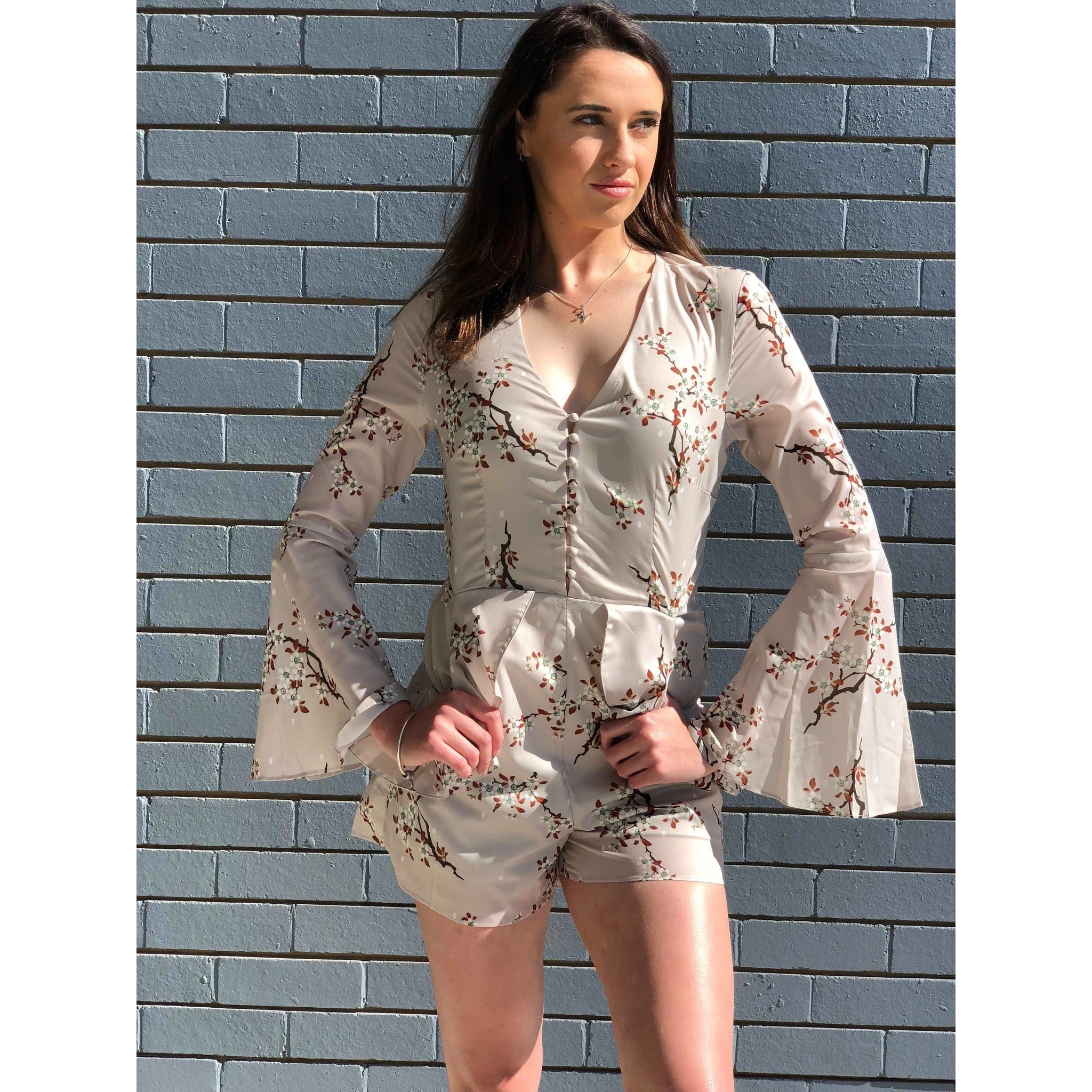 Rosita Long Sleeve Playsuit,you will find it only at madeleine grace the label Store