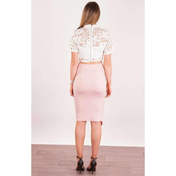 Madeleine Grace The Label presents you the Cascade Drape Panel Skirt!
