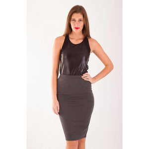 Laya High Waisted Pencil Skirt , Featuring comfortable stretch fabric, this skirt is a style staple!!