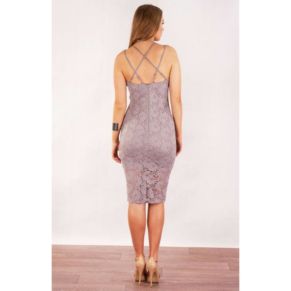 Avisha Floral Lace Bodycon Grey ,you will find it only at madeleine grace the label Store