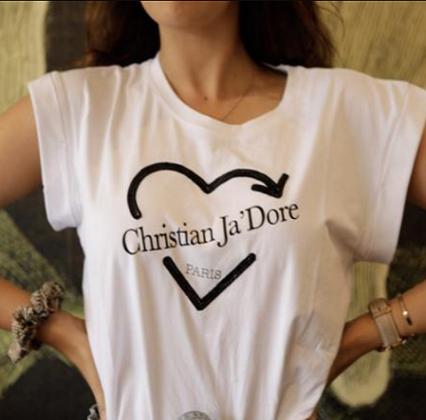 CJD Tee-you will find it only at Madeleine Grace The Label