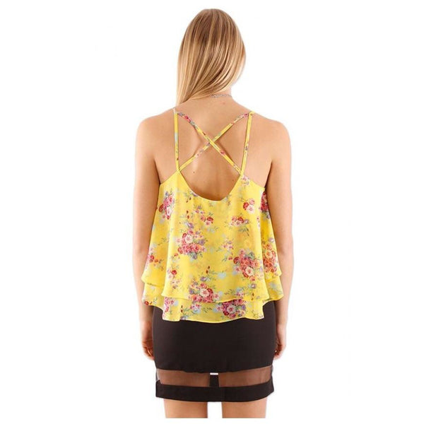 The Sophia Floral Crossover Cami