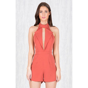Kendra Pointy Collar Playsuit offered by Madeleine Grace The Label