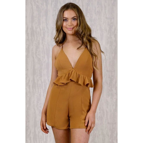 Alchemy Plunge Neck Playsuit