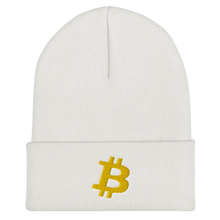 Load image into Gallery viewer, BITCOIN Cuffed Beanie - Gold Logo