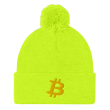 Load image into Gallery viewer, BITCOIN Pom Pom Knit Cap